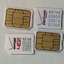 Lot of 100 Verizon Nano Sim cards for iphone 7 6s 6 5s 5 galaxy s7 s6 note 5