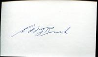 Edd Roush Autographed / Signed 3x5 Card
