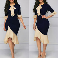 Elegant Women's Office Lady Formal Wear Business Work Party Pencil Dress Suit US