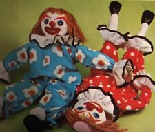 Evil Scary Creepy Clown Doll Dolls Sewing Pattern 1974 FRIGHT Frightening