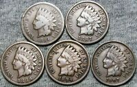 1864-L Initial L 1887 1888 1894 1907 Indian Cent Lot ---- NICE ----  #X587