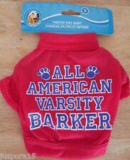 New listing New Doggie Unisex Red/White/Blue All American Varsity Barker Shirt Size S