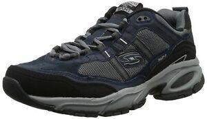 Skechers Sport Men's Vigor 2.0 Trait Memory Foam Sneaker, Navy/Grey, Size 12.0 O