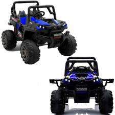 Quad buggy électrique enfant 12V bleu tout terrain télécommande parentale