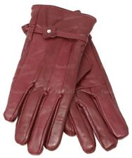 New Women's Classy 100% Black Leather Winter Warm Gloves w/ Fur Lined Gloves