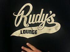 RUDY'S LOUNGE 100% Nylon VINTAGE UNIFORM TOP Sz. L