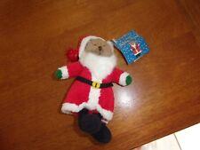 """Russ Berrie Plush Jolly Santa Bear holiday christmas Tan 6"""""""