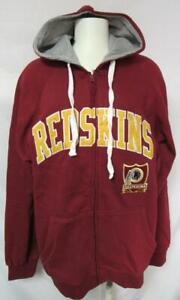 Washington Redskins Mens S or M Full Zip Embroidered Hooded Sweatshirt YZ 16