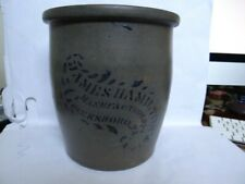 Superb Condition Antique James Hamilton Pennsylvania Stoneware Crock Jar