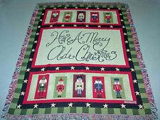 Merry Olde Christmas Nutcracker Tapestry Afghan Throw