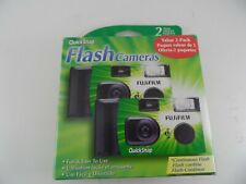 NEW Twin-Pack Fujifilm QuickSnap Flash Cameras (2 cameras total, 27 Exp. Each)