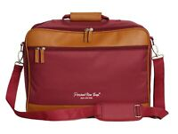 One Size Fits Most Personal Item Bag Messenger Under The Seat  17x13x7 Wine