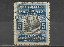 Canal Zone On Panama Stamp Used 5 Centavos Justo Arosemena