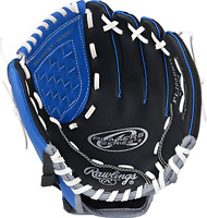 "Youth Baseball Glove Rawlings 10.5""; Game Ready; Right Hand Throw; For Ages 2-9"