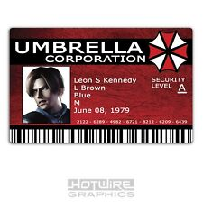 Plastic ID Card (GAMES FILM Prop) - Leon S Kennedy UMBRELLA Corp Resident Evil