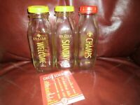 RARE SET 3 KC Chiefs Shatto Milk Bottles WELCOME SUNDAY CHAMPS Mahomes SuperBowl