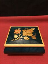 San Francisco Music Box Co.Flower Inlay Music Box Reuge Italy Swiss Movement