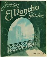 Vintage El Rancho Garden Original Restaurant Menu Republic Of Panama