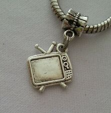 Television TV Old Fashion Dangle Bead for Silver European Style Charm Bracelet