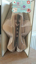 Gingerbread Man Folded Book Art Folding PATTERN ONLY #516
