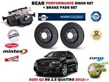 AUDI De Fibra De Carbono Delantero Trasero Rejilla Bonnet Insignia Anillos Q3 Q5 Q7 A6 S6 RS6 285mm