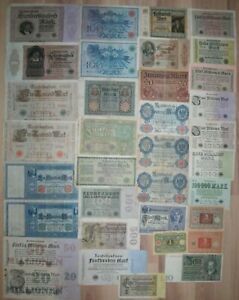 LOT OF 35 Germany banknotes