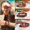 Boho Ethnic Handmade Multicolor String Cord Woven Braided Friendship Bracelet