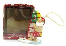 Hawaiian Designer Christmas Ornament SANTA WINDSURFING  Surfing New in Box