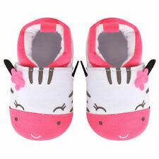 NEW Baby Girls Pink Zebra First Walker Soft Sole Crib Shoes 0-6 Months