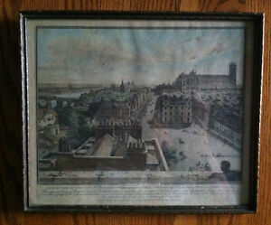Aquatint by John Thomas Smith - North View of the City of Westminster from