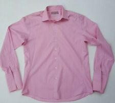 Thomas Pink Mens Size Large 16/41cm Button Up Shirt Pink Long Sleeve French Cuff
