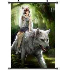 Anime Mononoke Hime Princess wall Poster Scroll s3235