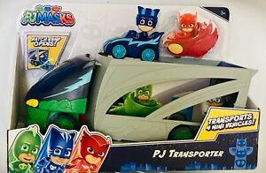 NIB PJ Masks PJ Transporter Action Figure Vehicle Toy Set Catboy