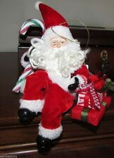 "Classic Santa Ornament or Shelf Display Luxury Design Gift Boxed 10"" Tall"