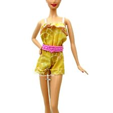 Barbie Fashionistas Romper with Pink Belt Frill Detailing New