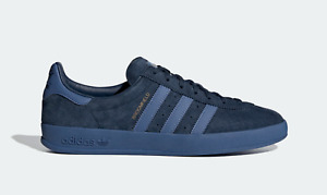 adidas Originals Broomfield Suede Trainers in Navy and Blue Vintage Shoes