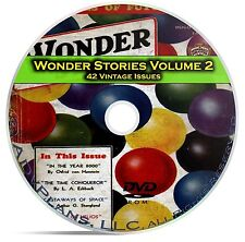 Wonder Stories, Vol 2, 42 Classic Pulp Magazine, Golden Science Fiction DVD C62