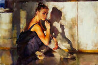 ZOPT1006 100% painted hand dancing ballet girl oil painting art on canvas