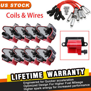 Square Ignition Coil & Spark Wire Set for Chevy Silverado EXPRESS Avalanche GMC