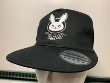 Overwatch DVA Bunny Black Baseball Hat Cap Snapback Beechfield Headwear