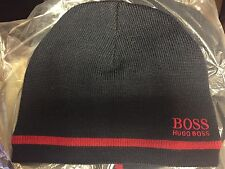 Men's Hugo Boss Knitter Wool Logo Beanie Black/ Red