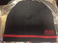 Men's Hugo Boss Knitter Wool Logo Beanie Black/ Red