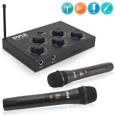 Pyle PDWMKHRD22WM.5 HDMI Wireless UHF Microphones & Bluetooth Karaoke Mixer Set