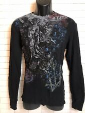 Filter Thermal Long Sleeve Shirt Black Mens XL Angel Graphics MMA By Affliction