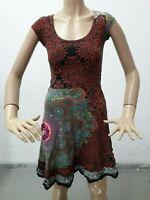 Vestito DESIGUAL Donna Dress Woman Veste Femme Taglia size Xs Cotone 8554