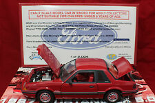1987 RED Mustang LX 5.0 GMP 1 OF 2004 MADE World Wide1-18 Scale Item # 8063.NOS.