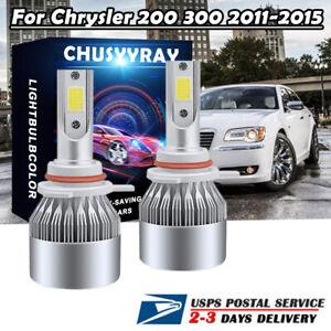 9012 LED Headlight For Chrysler 200 300 2011-2015 High/Low Beam 6000K White Bulb