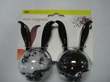 Chef'n Mini Magnetic Set, Black Handles and Black Pads, 101-033-001, Plastic