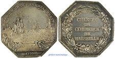 MARSEILLE  ,  CHAMBRE  DE  COMMERCE  ,  BATEAU , ENTREE  DU  PORT , ARGENT 1775