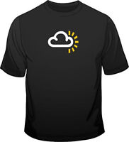 Weather Symbol Sunny Patches Mens Loose Fit Cotton T-Shirt